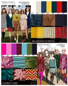 Key colors and theme's FW 14-15  www.pinkstudio.nl