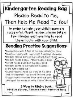 FREE Kindergarten Parent Note for Reading Bags FREE Kindergarten Parent Note for Reading Bags - Home School Messages Parents, Notes To Parents, Parent Notes, Kindergarten Language Arts, Kindergarten Parent Letters, Kindergarten Guided Reading, Beginning Of Kindergarten, Kindergarten Projects, School