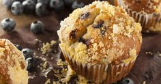 Gluten-Free Blueberry Muffins with Cream Cheese Filling - Kimberton Whole Foods Blueberry Streusel Muffins, Homemade Blueberry Muffins, Gluten Free Blueberry, Blue Berry Muffins, Whole Foods, Whole Food Recipes, Grandma's Recipes, Chili Recipes, High Fiber Breakfast