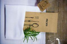 Rustic Wedding Menu Rosemary Design