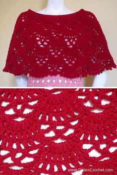 bea poncho, free crochet pattern, red, medium weight yarn, red heart super saver, easy