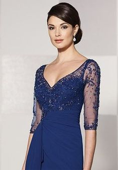 Cameron Blake 214689 Blue Mother Of The Bride Dress