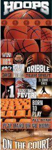 Reminisce Real Sports Basketball Graphic Sports Scrapbook Sticker - 11 Main
