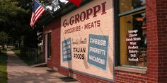 Groppis has been around since the end of WW2 and is wonderful for so many things.  A little grocery store full of the best cheeses, meats, deli, etc that I've seen in a small space for a while.  They just sell all of the perfect items under one roof and now they have expanded with a wonderful little wine bar at the back serving lite bites to enjoy.  Its really worth seeking out and u can enjoy a litle walk on the lake after.  This is what neighbourhood grocery stores should be :)