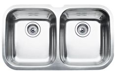 "Blanco 440160 Niagara Double Basin Stainless Steel Kitchen Sink 30 5/8"" x 18 1/8 Satin Polished Fixture Kitchen Sink Stainless Steel"