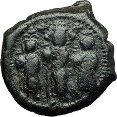 Justin Ii & Queen Sophia 565-578 Ad. Byzantine (300-1400 Ad) Sunny Coin Byzantium Follis