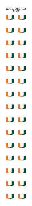 University of Miami Nail Sticker Decals (2 Pack)