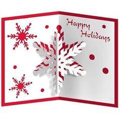 Silhouette Design Store - View Design #14501: snowflake popup card
