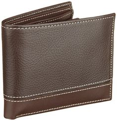 Perry Ellis Sheridan Passcase Portfolio Wallet Brown