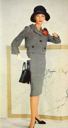 ~1958 Spring Suits~ What a stunning time in fashion!