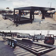 Tinyhousebasics.com It's Gooseneck Season! Gooseneck Tiny House Trailers that is, here is one of our latest. A 40ft X 99 21k GVWR Gooseneck Tiny House Trailer with the 8ft x 99 Wide Deck On The Gooseneck Hitch. 5th wheel hitches available for the same price -  Go To TinyHo