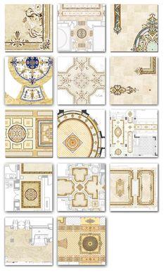 custom marble floor designs
