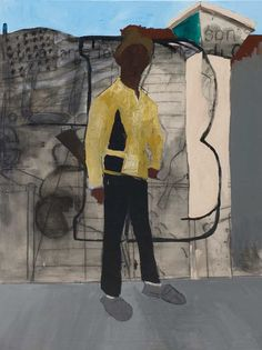 Henry Taylor (US 1958) Bobby Hutton Rests (2008) Acrylic on canvas (229x170 cm)