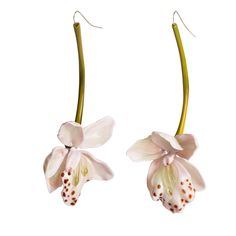 Pink Murano Orchid - Shop Earrings from Italy's Best Artisans: fine jewelry handcrafted in Italy - Fine Jewelry from Italy's Best Artisans - Artemest