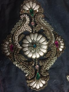 A Short, Helpful Gold Guide For gold bullion price Zardozi Embroidery, Hand Work Embroidery, Couture Embroidery, Indian Embroidery, Shirt Embroidery, Gold Embroidery, Embroidery Fashion, Hand Embroidery Patterns, Crazy Quilting