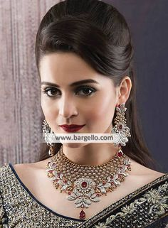 Bridesmaid Jewelry Sets, Bridal Jewelry Sets, Wedding Jewelry, Girls Jewelry, Bridal Jewellery, Rose Gold Jewelry, Gemstone Jewelry, Gold Jewellery Design, Designer Jewellery