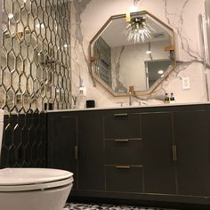 Elegant and extremely versatile, enhance your aura today with these beautiful hexagon selections. Hexagon Tiles, Mirror Tiles, Double Vanity, Elegant, Furniture, Beautiful, Home Decor, Classy, Decoration Home