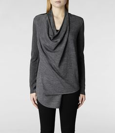 If this ever goes on sale...Womens Drina Cardigan (Charcoal) | ALLSAINTS.com