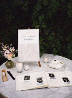 Top 20 Polaroid Wedding Guest Books Polaroid guest book for elegant weddings Wedding Book, Wedding Signs, Wedding Table, Fall Wedding, Dream Wedding, Polaroid Wedding Guest Book, Wedding Photo Guest Book, Wedding Guestbook Table, Wedding Favors
