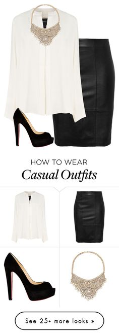 """NYC business casual"" by i-am-bryana on Polyvore featuring Derek Lam, Christian Louboutin and Bebe"