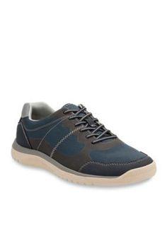 Clarks Blue Votta Edge Lace Up Sneaker