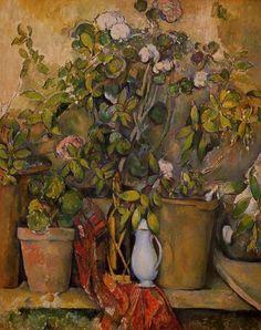 Pots en terre cuite et fleurs (1888-90), Paul Cezanne.