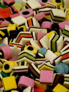 """bonbons anglais""- Dad's all-time favorite candy. He'd always be upset to see I'd found his stash & eaten the circular pieces."