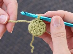 "Directions for ""Magic Circle""--how to start a crochet-in-the-round project and close the center hole"
