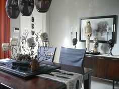 Skull Decor - Spooky Halloween Table Settings and Decorations on HGTV
