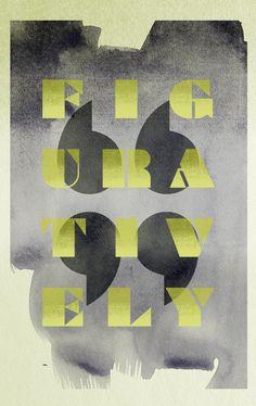 "Literal ""sarcasm"" #typography #artdeco"