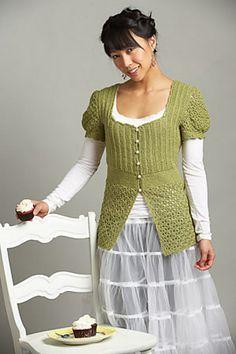 Ravelry: Cupcake Sweater pattern by Tram Nguyen, Tunisian Crochet