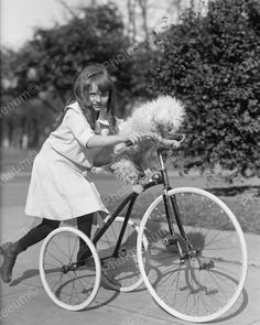 Click HERE to see my other auctions Girl With Dog On Tricycle 1917 Vintage 8x10…