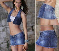Mini Bikini, Online Shopping Clothes, Denim Skirt, Mini Skirts, Feminine, Crop Tops, Bikinis, Womens Fashion, Sexy