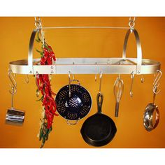 Po Racks - Oval  Hanging Pot Rack by HSM Metal Products | Kitchensource.com