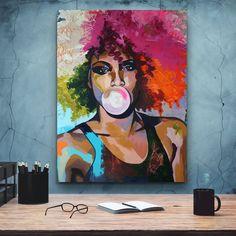 African-American Woman art, Beauty Woman, African Art, Canvas decoration for living room, Home Black Women Art, Black Art, Black Girls, Halloween Artwork, African American Women, Nature Illustration, Home Wall Art, African Art, Female Art