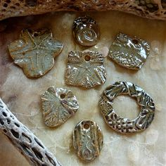 Sharilyn Miller: New Glossy Glazed Pendants, Fresh Out of the Kiln!