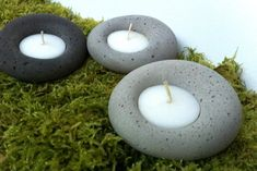 Concrete Tealight Holder Urban Gray Candle Holder Home Decor Industrial Modern Design Cement Art, Concrete Cement, Concrete Crafts, Concrete Projects, Concrete Design, Diy Concrete Planters, Concrete Garden, Diy Yard Decor, Yard Decorations