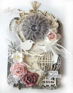 Vintage/Shabby Chic Tag card made by Inger Harding.