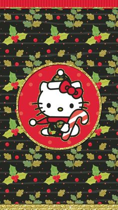 #merry_christmas #wallpaper #iphone #happy_holiday #hello_kitty Hello Kitty Art, Hello Kitty Items, Sanrio Hello Kitty, Hello Kitty Backgrounds, Hello Kitty Wallpaper, December Wallpaper, Merry Christmas Wallpaper, Hello Kitty Christmas, Sanrio Wallpaper