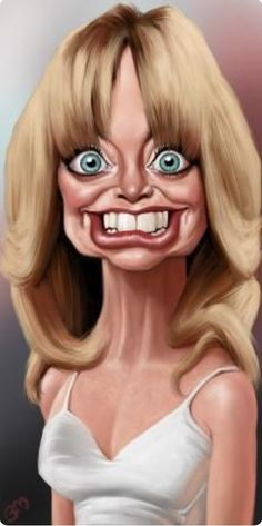 Goldie Hawn by Bruno Munier on Wittygraphy Cartoon Faces, Funny Faces, Cartoon Art, Caricature Artist, Caricature Drawing, Drawing Art, Funny Caricatures, Celebrity Caricatures, Celebrity Drawings