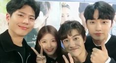 """Kim Yoo Jung Shares Adorable Video Of Park Bo Gum Pranking """"Moonlight Drawn By Clouds"""" Main Cast 
