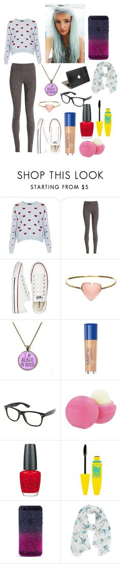 """""""I want this hair"""" by khloie-henry ❤ liked on Polyvore featuring Topshop, NIC+ZOE, Converse, Orelia, Rimmel, Retrò, Eos, OPI, Maybelline and Jane Norman"""