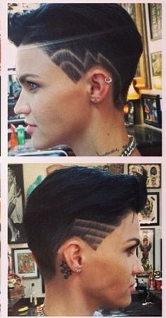 In love with Ruby Rose and her oh so cool hair!