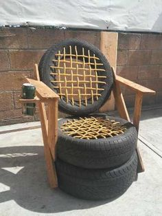 Brilliant Ways To Reuse And Recycle Old Tires ! Tire Furniture, Car Part Furniture, Recycled Furniture, Handmade Furniture, Garden Furniture, Modern Furniture, Furniture Design, Easy Arts And Crafts, Diy Home Crafts