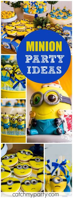 You have to see the amazing treats at this Minion birthday party! See more party ideas at CatchMyParty.com!
