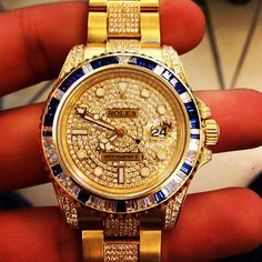 Expensive Rolex Gold Diamond Watch