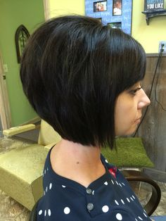 haircut and color by Kathy Smith @ AK salon Mid Length Bobs, Blonde Pixie Haircut, Bob With Bangs, Haircut And Color, Different Hairstyles, Salons, Hair Makeup, Hair Cuts, My Style