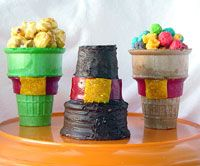 Edible Pilgrim Hats - made with ice cream cones and fruit roll ups