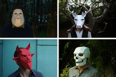 These Geometric Masks Are A Fun Idea For Halloween