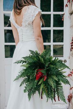 bouquet de mariée végétal variétés de fougères Abbaye de cercanceaux